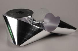X077UU Ruban métal argent 100mm x 50m