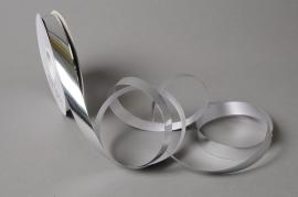 X049UU Ruban métal brillant argent 19mm x 100m