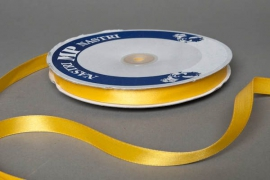 A068UN Ruban satin jaune 12mm x 100m