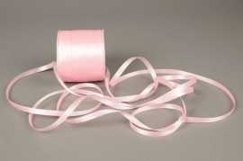 A081UN Ruban satin rose 6mm x 100m