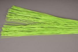 s002mi Fagot de rotin plat vert H60cm