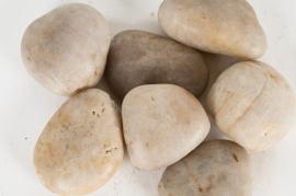 A012KO Sac de galets de rivière zen blanc 50/70mm 25kg