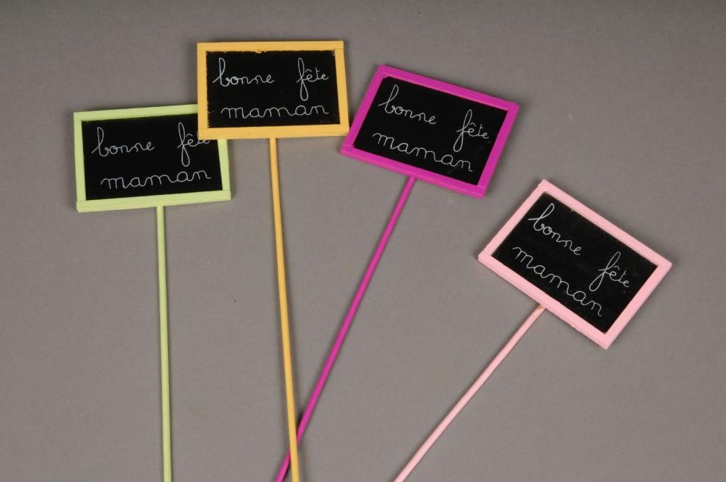 FM01F5 Sachet de 24 pics Bonne fête maman H29cm