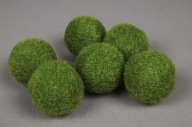 x002wl Sachet de 6 boules de gazon artificiel