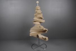 X002H0 Sapin spirale en bois H120cm