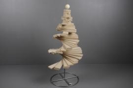 X001H0 Sapin spirale en bois H90cm