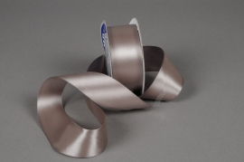 A042UN Satin ribbon grey 40mmx25m