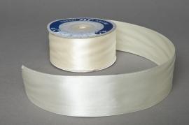 Satin ribbon ivory 40mmx25m