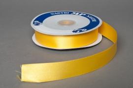 Satin ribbon yellow 25mmx50m