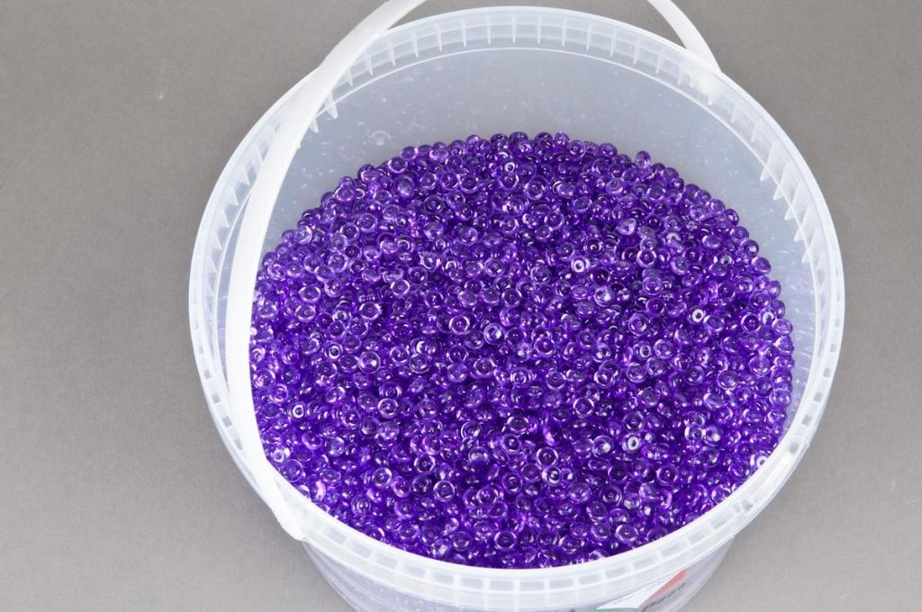 A015AE Seau 2.5L perles de pluie violet