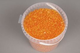 A149QF Seau 2.5L perles de pluie orange transparent