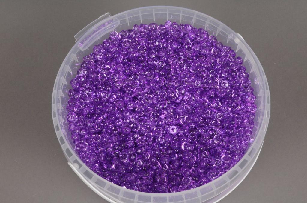 A147QF Seau 2.5L perles de pluie violet transparent