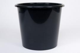 Seau conique en plastique noir 5L D21 H20cm