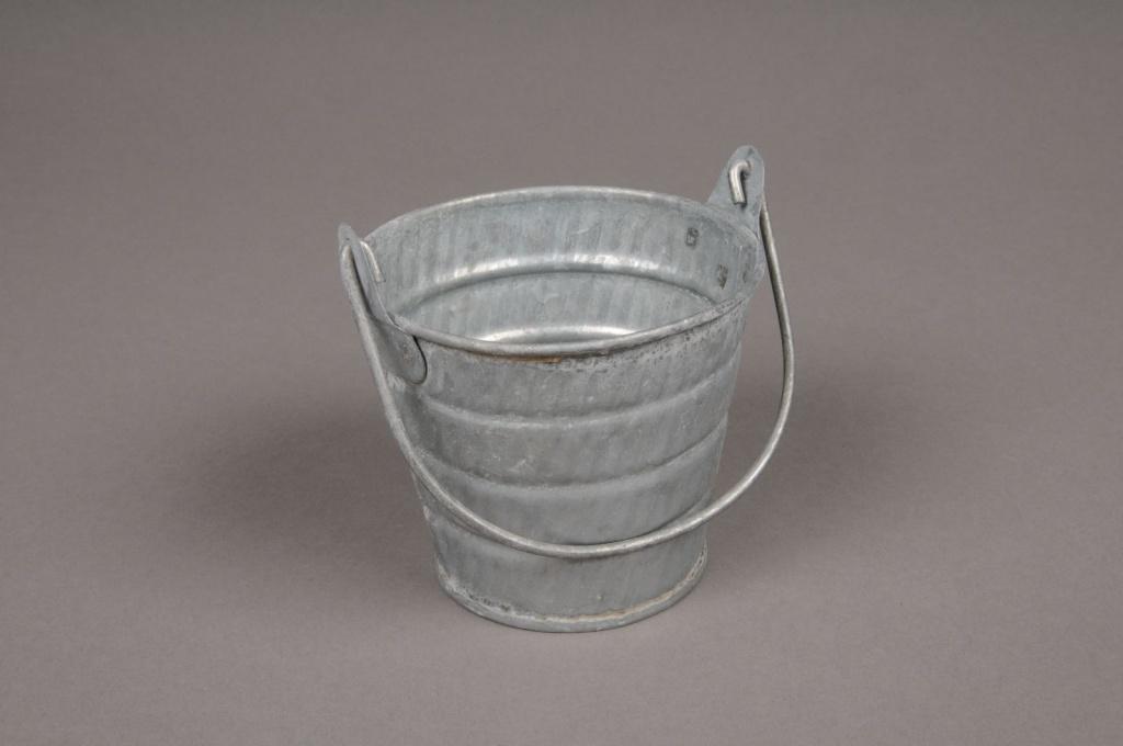 A039Q4 Seau en zinc avec anse D8.5cm H7.5cm