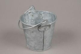 A049Q4 Seau en zinc avec anse D9cm H8cm