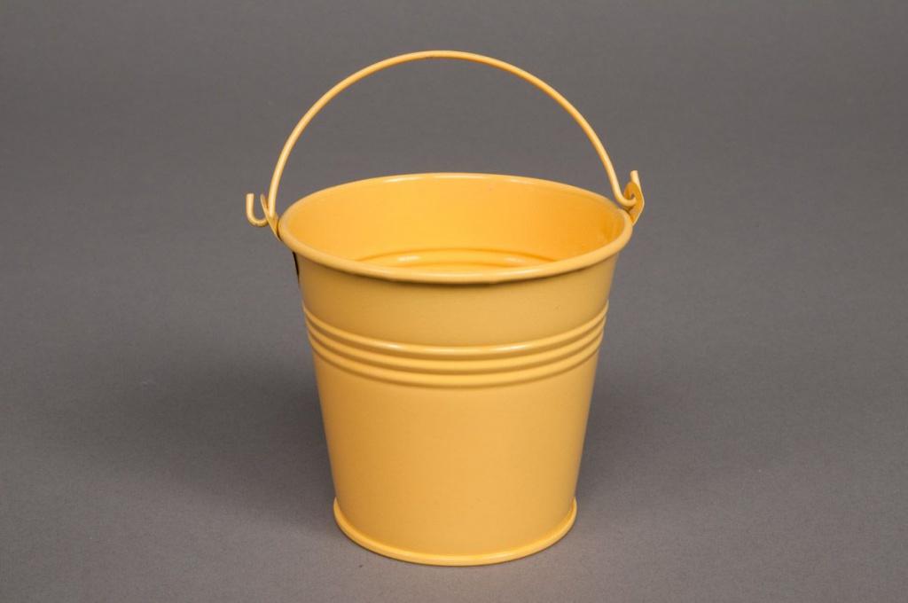 Seau en zinc jaune D16 H14cm