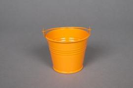 A251KM Seau en zinc mandarine D6 H5.5cm