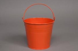 A039KM Bucket zinc orange D16 H14cm