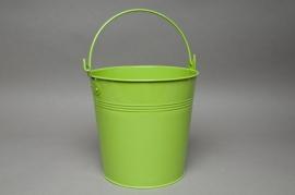 Seau en zinc vert amande D21 H20cm