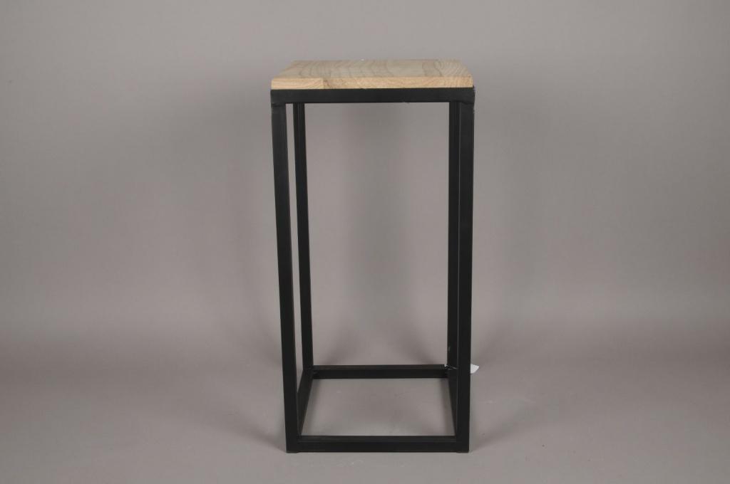 Console en bois et métal