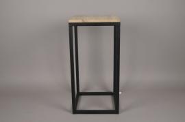 A025AY Sellette en bois et métal 30cm x 30cm H62cm