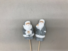 X077LE Set of 24 pics Santa Claus grey H27cm