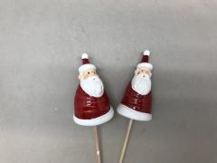 X079LE Set de 24 pics Père Noël rouge H27cm