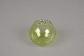 A010U5 Set de 3 soliflores en verre boule vert D5cm