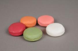 x522jp Set de 5 macarons artificiels assortis D5cm