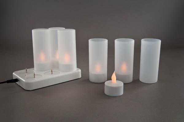 Set de 6 bougies LED