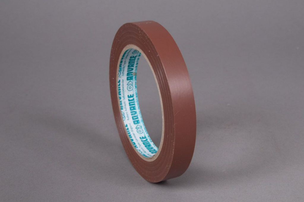 Set of 10 adhesive tapes floral brown