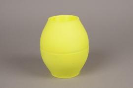 A265QX Set of 10 green plastic vase D14.5cm H17.5cm