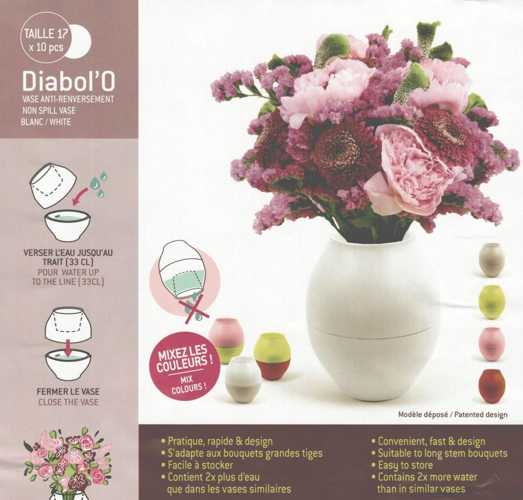 Set of 10 plastic vase D14.5cm H17.5cm