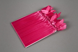 Set of 30 ribbons to attach to the balls pink H10cm
