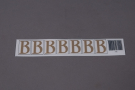Set of 50 letters B 33mm