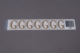 A008K4 Set of 50 letters G 33mm