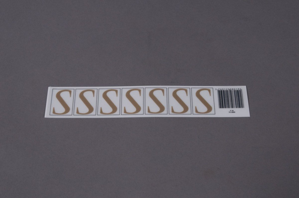 A020K4 Set of 50 letters S 33mm