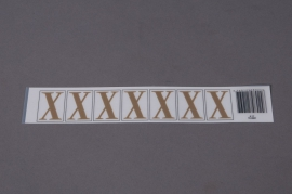 A025K4 Set of 50 letters X 33mm