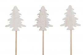 X041U7 Set of 6 wooden christmas tree picks H29cm