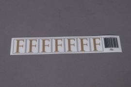A007K4 Set of 50 letters F 33mm
