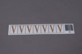 A023K4 Set of 70 letters V 33mm