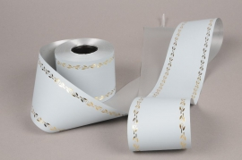 A052ZR Silver bereavement ribbon 75mm x 50m