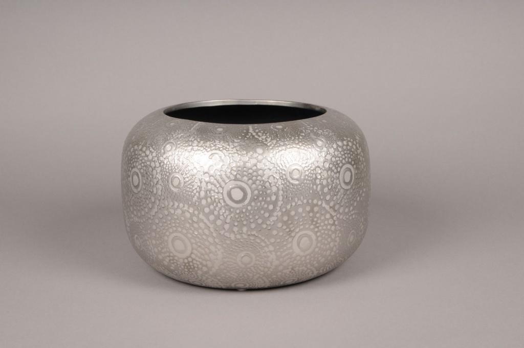 A131VO Silver ceramic cup D29cm H19cm