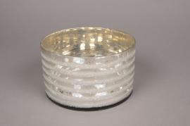 A000I5 Silver glass bowl D18cm H10cm