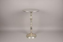 A142HH Silver metal table D71cm H71cm