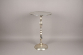 A142HH Silver metal table D71cm H71cm