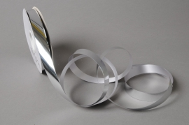 X049UU Silver ribbon bright metal 19mm x 100m