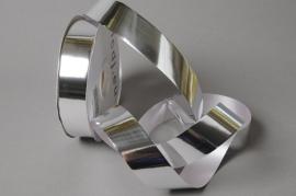 X056UU Silver ribbon shiny metal 30mm x 100m