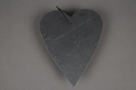 SV02J5 Slate heart hanging D23cm