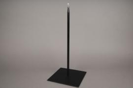 x022ec Socle métal noir 18x18cm H40cm